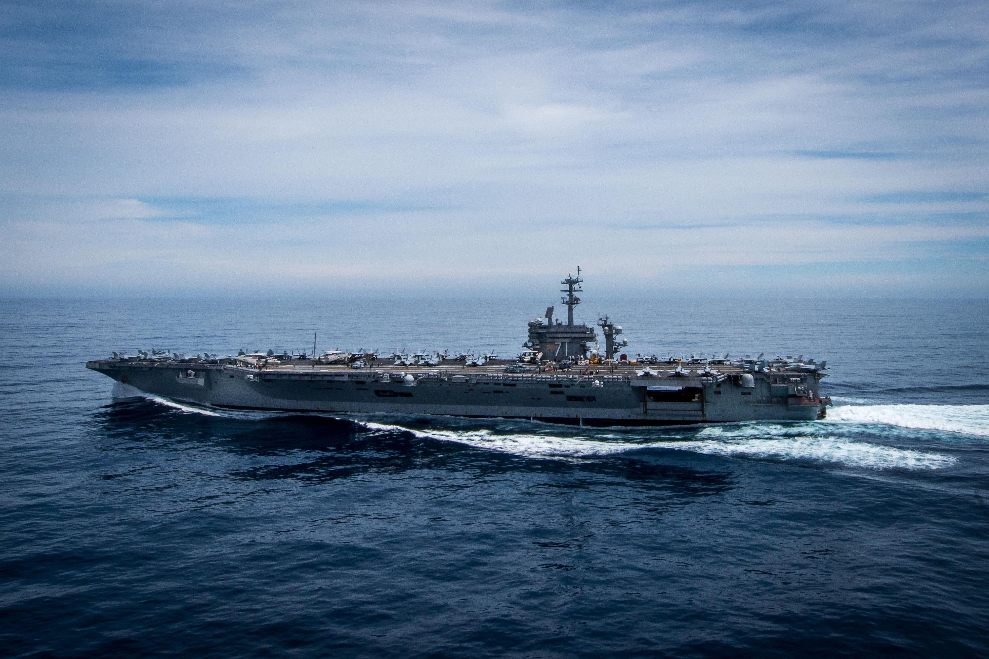 Portaviones estadounidense USS Theodore Roosevelt
