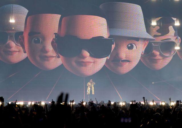 Daddy Yankee en un concierto en Puerto Rico