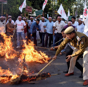 Disturbios en Assam, la India