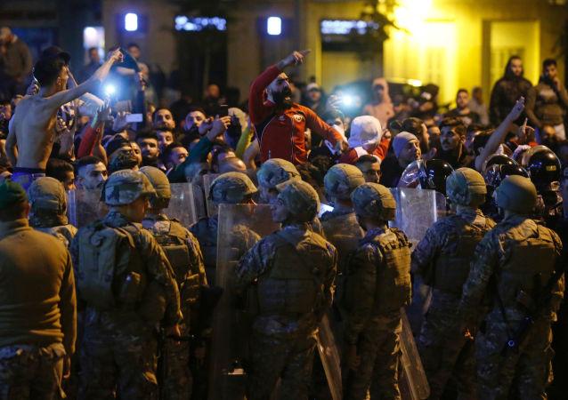 Protestas en Beirut (Archivo)