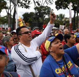 Celebración del 20 aniversario de la creación de la Constitución de Venezuela en Caracas