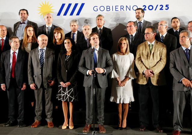 Luis Lacalle Pou, el presidente de Uruguay, anuncia su gabinete