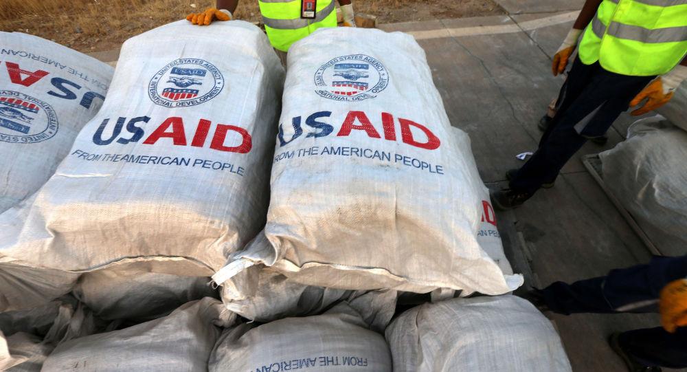 Sacos con ayuda de la USAID
