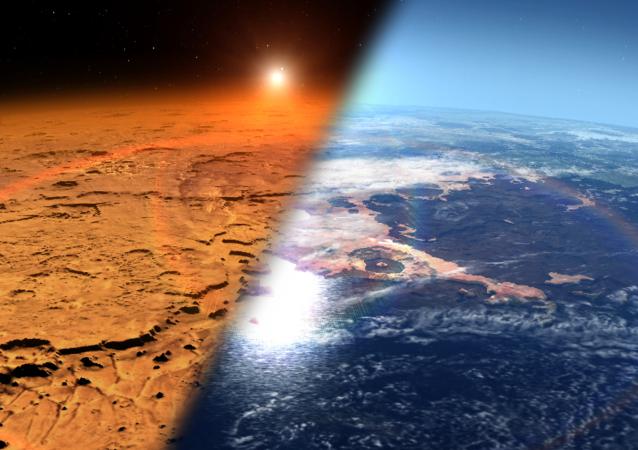 Marte con ambiente frío y seco frente a un Marte con agua y atmósfera más espesa