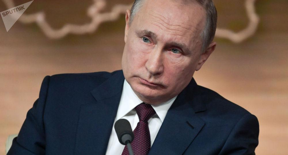 El presidente ruso, Vladímir Putin, durante la gran rueda de prensa anual 2019