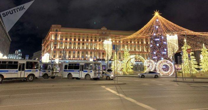 Un tiroteo en frente del edificio del FSB en el centro de Moscú