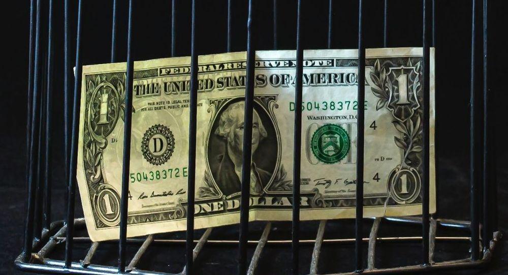 Un billete de dólar en una jaula