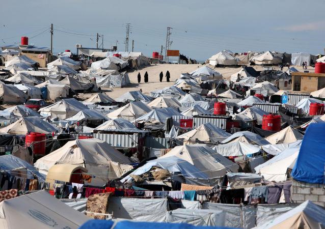 Un campo de refugiados sirios (archivo)