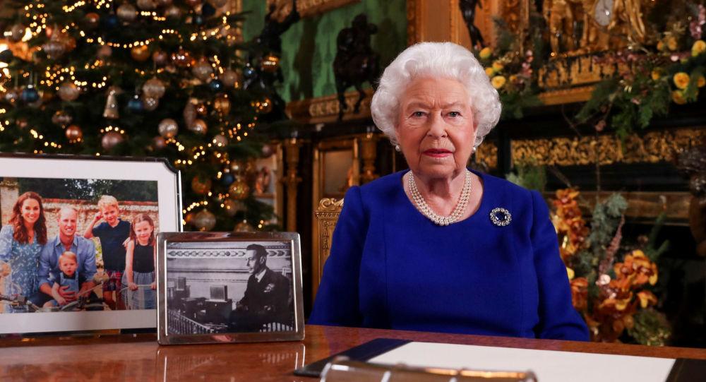 La reina Isabel II durante el discurso navideño
