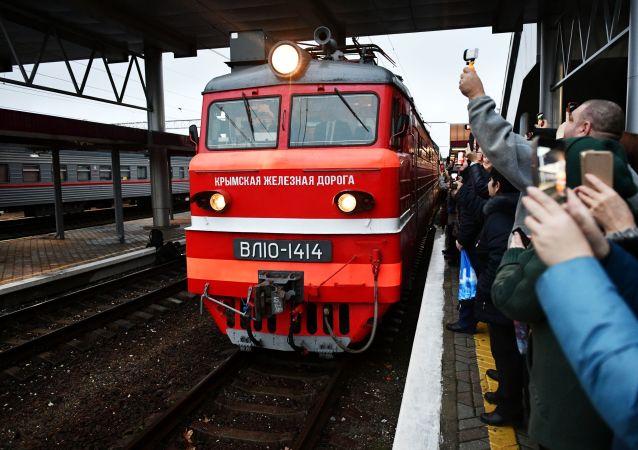 La llegada de un tren Moscú-Simferópol