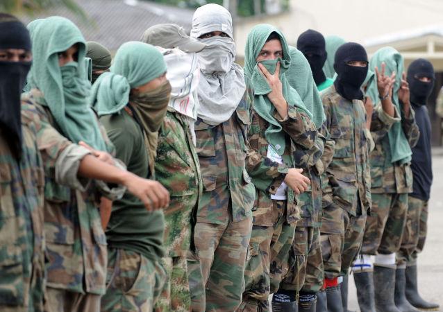 Miembros de la banda paramilitar colombiana Los Rastrojos (archivo)