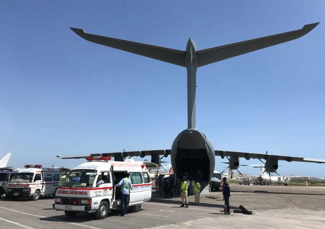 El avión turco con la ayuda humanitaria para Somalía