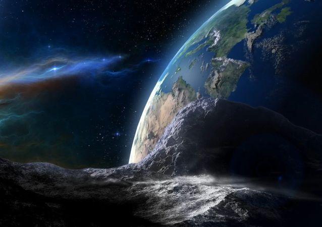 Un asteroide dirigiéndose a la Tierra (imagen referencial)