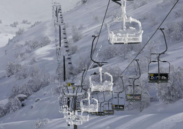 Pista de esquí del Monte Hermón, en el territorio sirio ocupado de los Altos del Golán