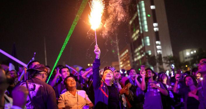 Protesta contra el gobierno de Chile durante Año nuevo