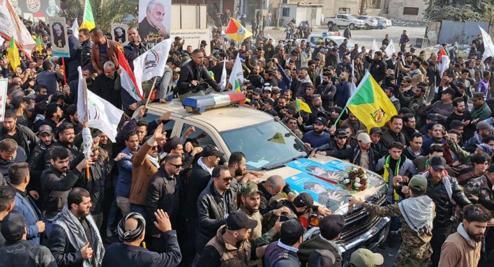 El funeral del comandante de la Fuerza Quds iraní, el general Qasem Soleimani