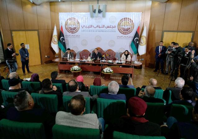 El Parlamento en Bengasi, este de Libia