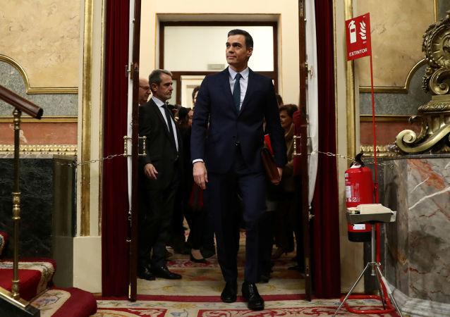 Pedro Sánchez llega a la votación de su investidura