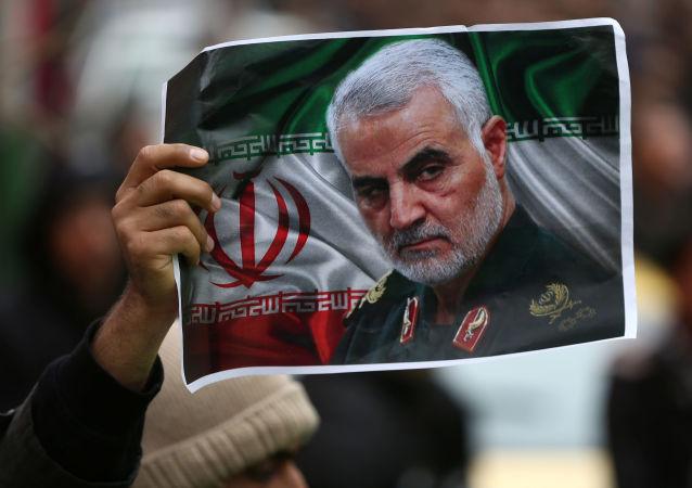 Una imagen del general iraní asesinado Qasem Soleimani