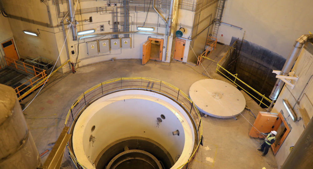El reactor nuclear de la central de Arak en Irán