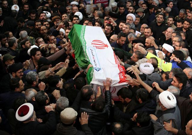 El funeral del general Soleimani en Teherán, Irán