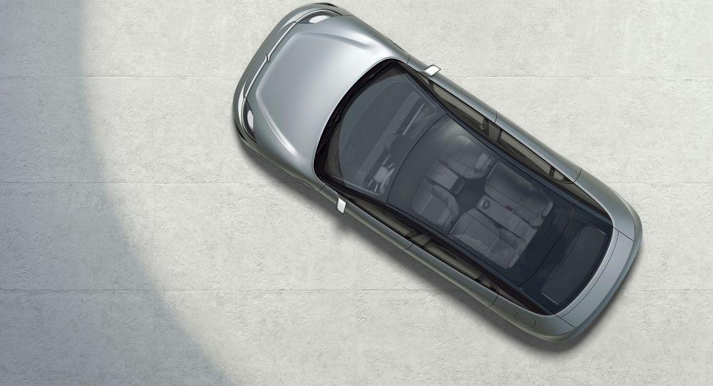 Vista superior del prototipo de automóvil eléctrico Vision-S