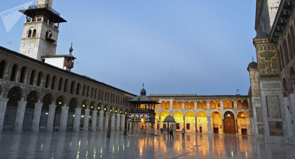 La mezquita de los Omeyas, en Damasco (Siria)