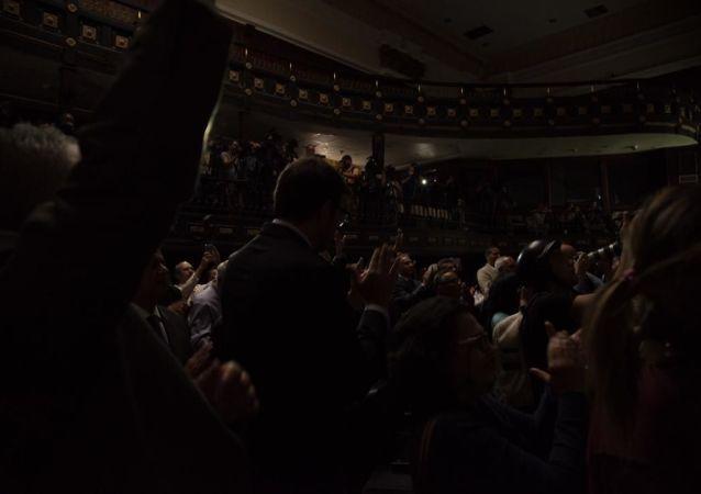 Opositores venezolanos en la Asamblea Nacional