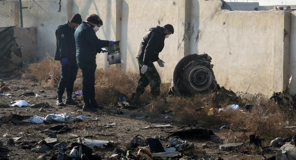 Lugar del siniestro del avión ucraniano en Irán