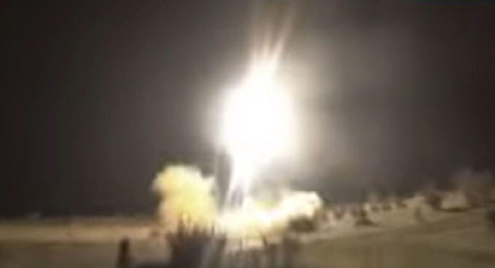 Lanzamiento de misiles iraníes contra las bases estadounidenses