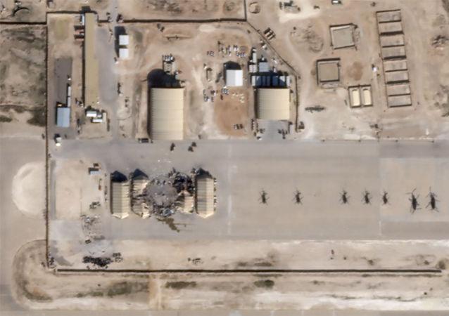 Imágenes satelitales muestran la base aérea Al Asad de EEUU en Irak tras los ataques iraníes