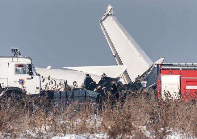 Lugar del siniestro del avión de Bek Air en Kazajistán