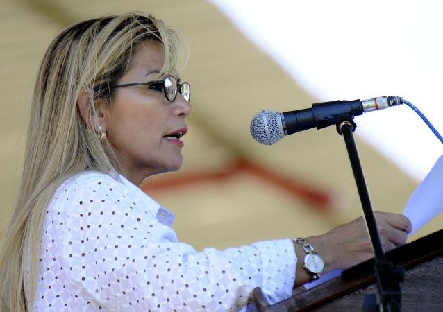 La presidenta de facto de Bolivia, Jeanine Áñez