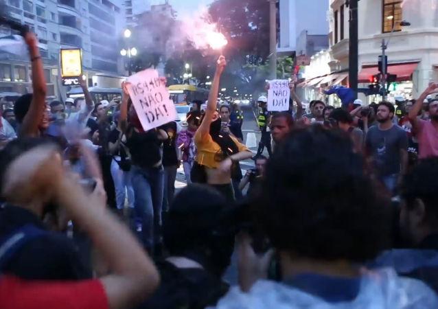 Sao Paulo se sumerge en protestas contra la subida de precios del transporte público