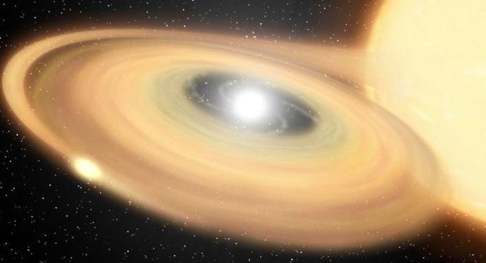 Una ilustración de una explosión estrellar