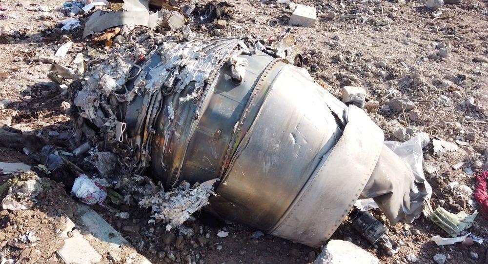 Restos del Boeing 737 ucraniano derribado en Irán