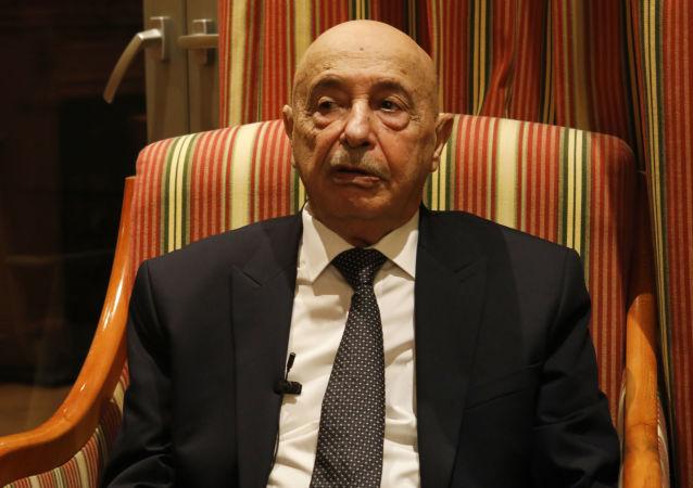 Aguila Saleh Issa, portavoz del Parlamento libio