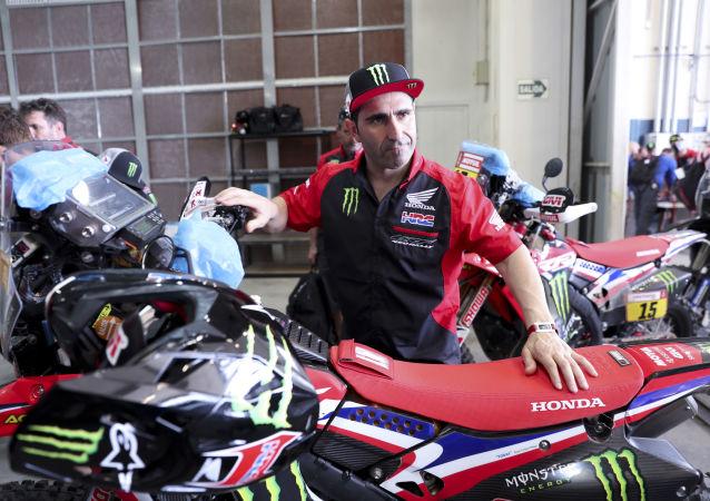 Paulo Goncalves, motociclista portugués