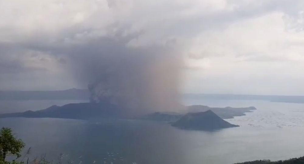 El volcán Taal