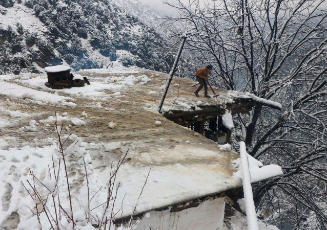 Intensas nevadas en Pakistán