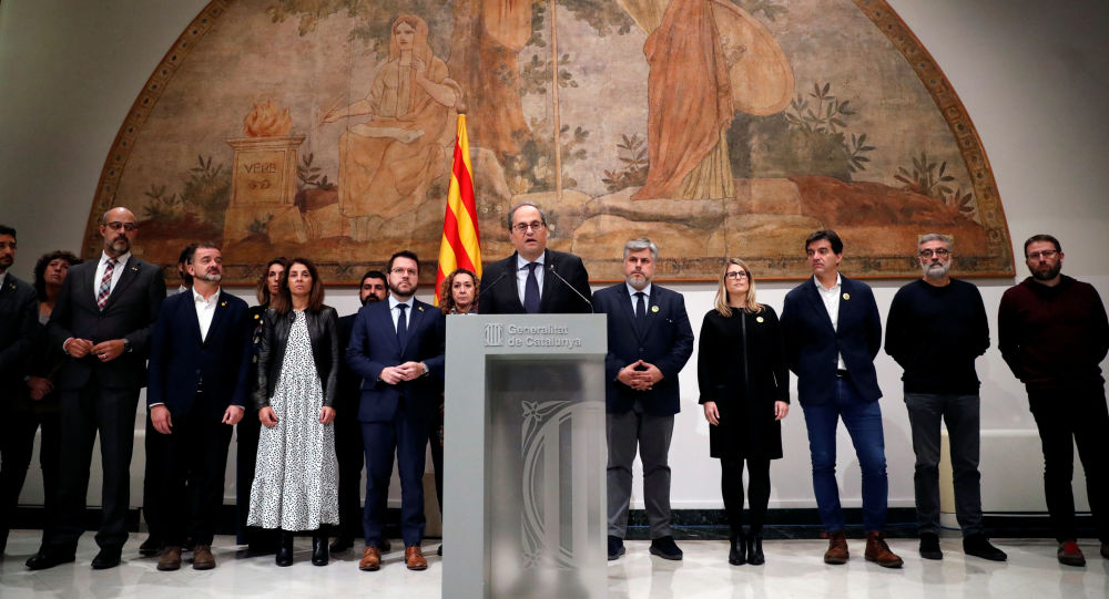 Quim Torra, presidente de Generalitat de Cataluña