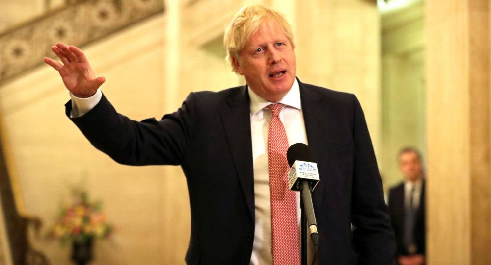 El jefe del Gobierno británico, Boris Johnson