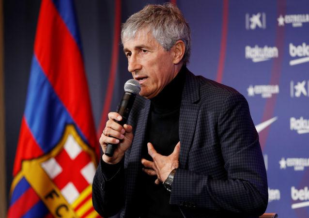 Quique Setién, el nuevo técnico del FC Barcelona