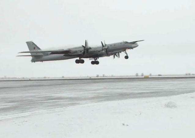 Los bombarderos estratégicos Tu-95MS desafían las extremas temperaturas del invierno ruso