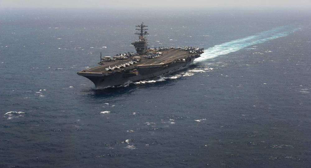 Un portaviones estadounidense de la clase Nimitz