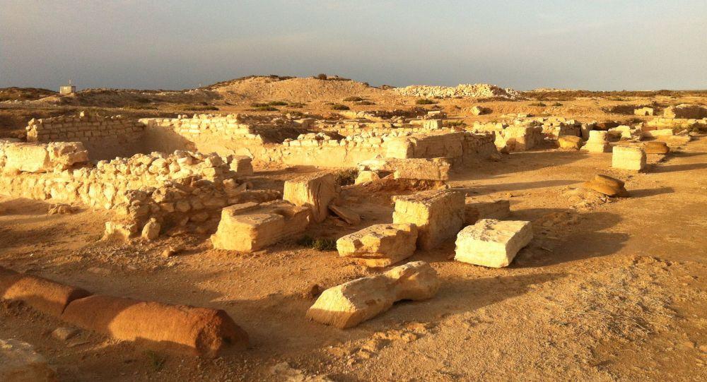 Las ruinas de la antigua ciudad de Meninx