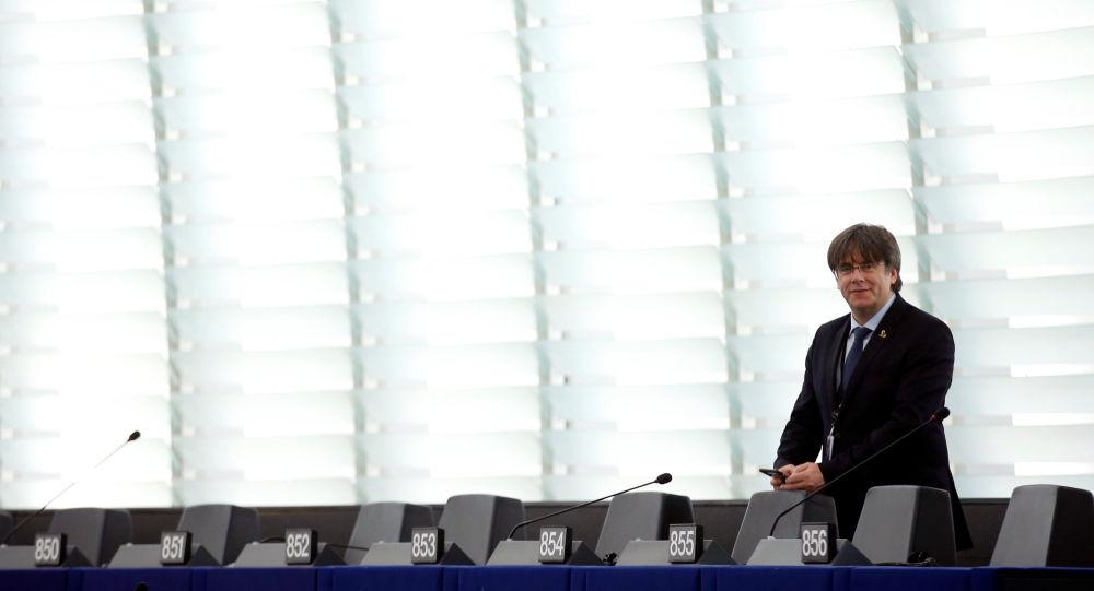 Carles Puigdemont, expresidente del Gobierno catalán y actual eurodiputado