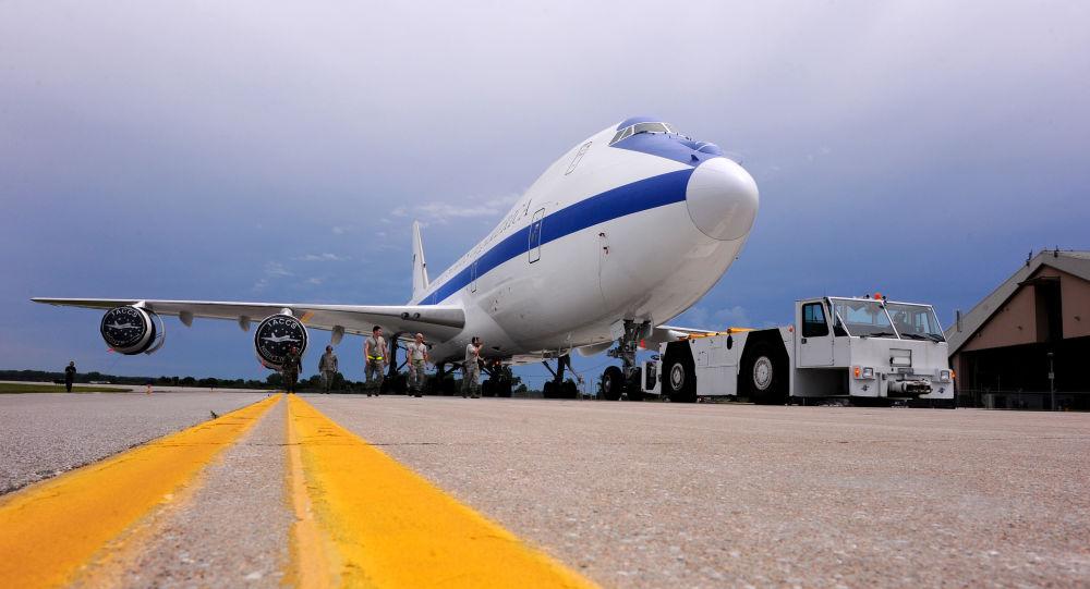 Un Boeing E-4B de las Fuerzas Armadas de Estados Unidos