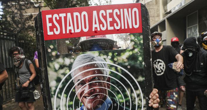 Protestas contra Sebastián Piñera en Chile
