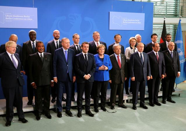 Participantes de la conferencia internacional sobre Libia en Berlín